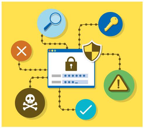 セキュリティソフトのイラスト